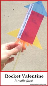 how to make a paper rocket valentine
