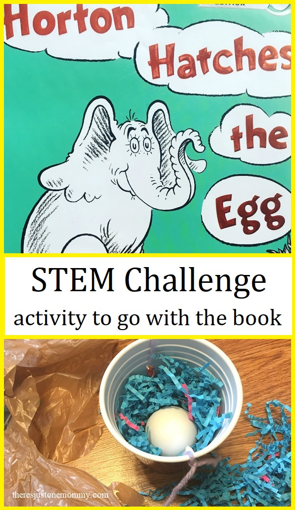 STEM challenge for Dr Seuss's Horton Hatches the Egg