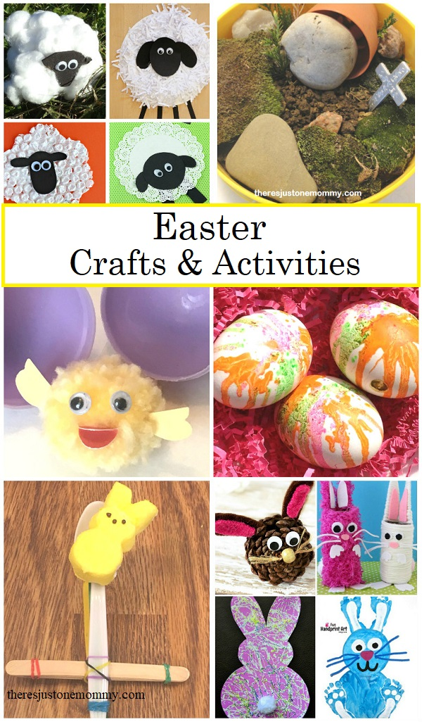 Easter Crafts And Activities Theres Just One Mommy