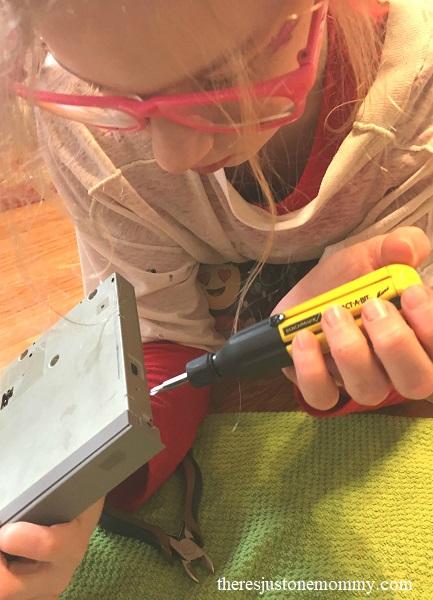 taking apart electronics -- simple STEM activity