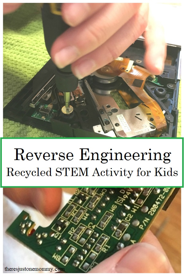 Reverse Engineering: simple recycled STEM activity to teach kids about electronics