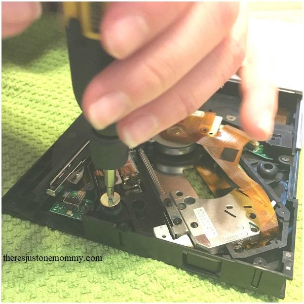 upcycled STEM -- taking apart electronics with kids