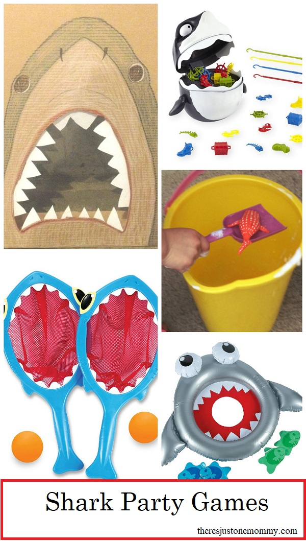 Shark party games -- perfect shark birthday party ideas