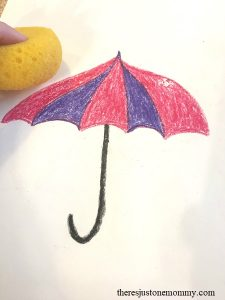 kids April showers craft