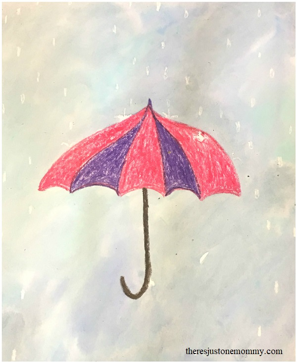 simple spring showers craft idea for kids