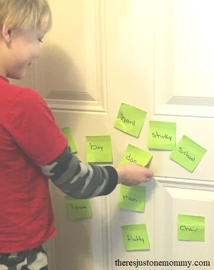 parts of speech activity -- perfect for kinesthetic learners