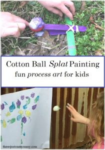 Cotton Ball Splat Painting
