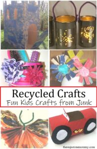 Fun kids crafts using recyclables