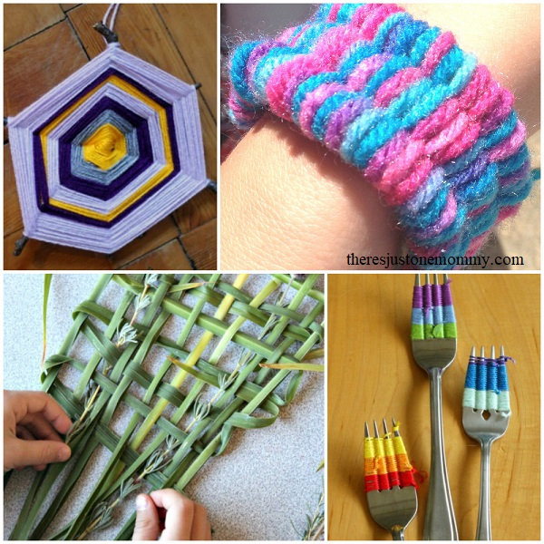 straw weaving and other kids weaving activities
