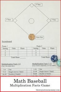 Math Baseball: Fun Way to Practice Multiplication Facts