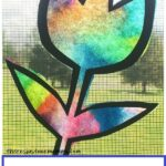 how to make colorful coffee filter suncatchers for spring