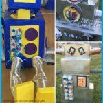 how to make cardboard box robots