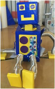 big robots to use as robot party decoration or VBS Fun Maker Factory decorations