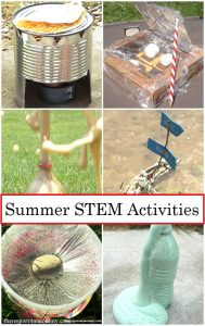 summer STEM activities that are perfect for backyard day camp