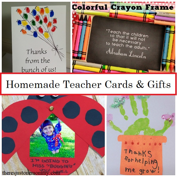 homemade teacher appreciation cards and gifts