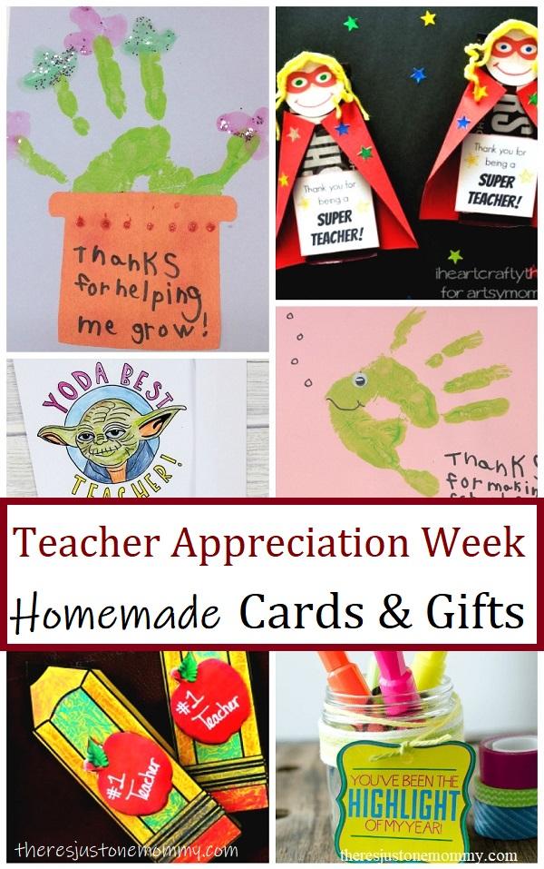 homemade teacher gifts & teacher appreciation cards