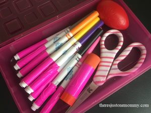 how to use duct tape to organize school supplies