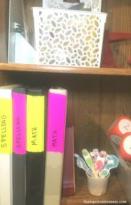 homeschool Duck Tape organization hack