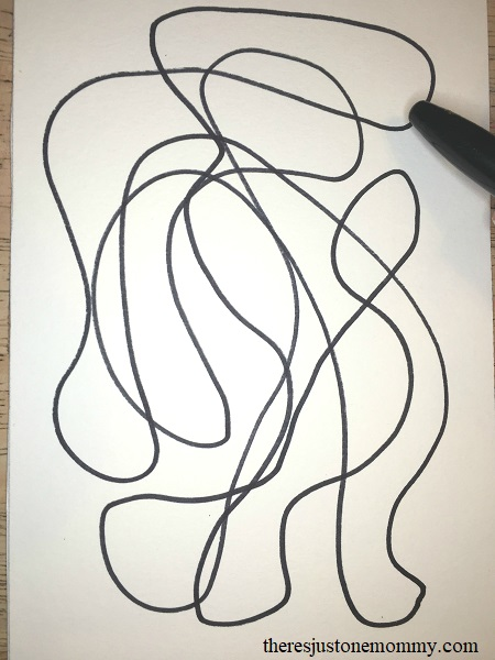 Need a boredom buster for the kids? Try scribble art!