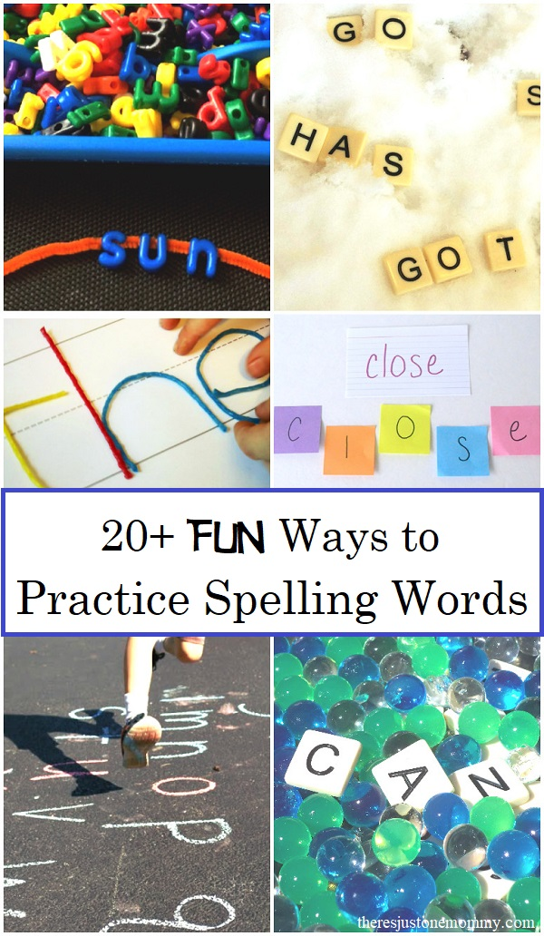 Who says spelling practice has to be boring? Check out these FUN ways to practice spelling words.