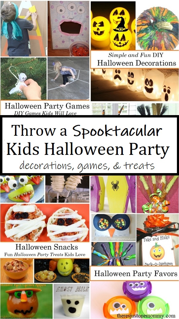 Halloween party games, DIY Halloween decorations & treats for a kids party