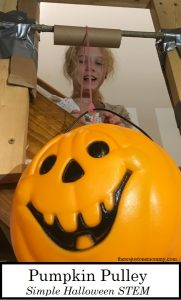 Want a fun Halloween STEM activity for kids? Learn how to make a Pumpkin Pulley.