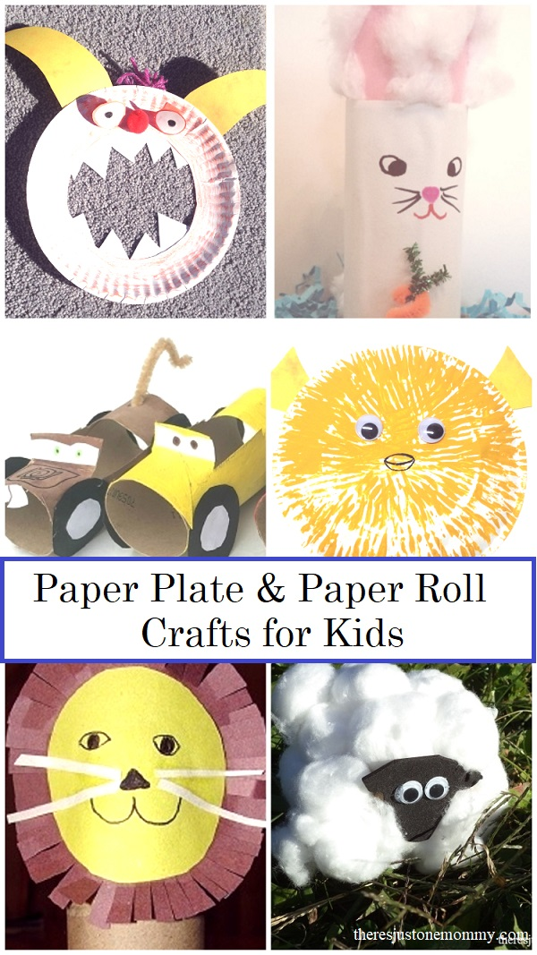 paper plate crafts for kids and paper roll crafts