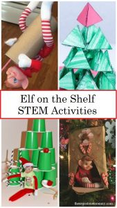 Elf on the Shelf STEM activities for kids