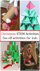 fun Christmas STEM activities with Elf on the shelf