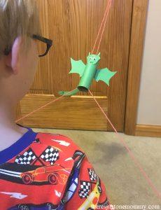 cardboard tube flying dragon STEM activity for kids