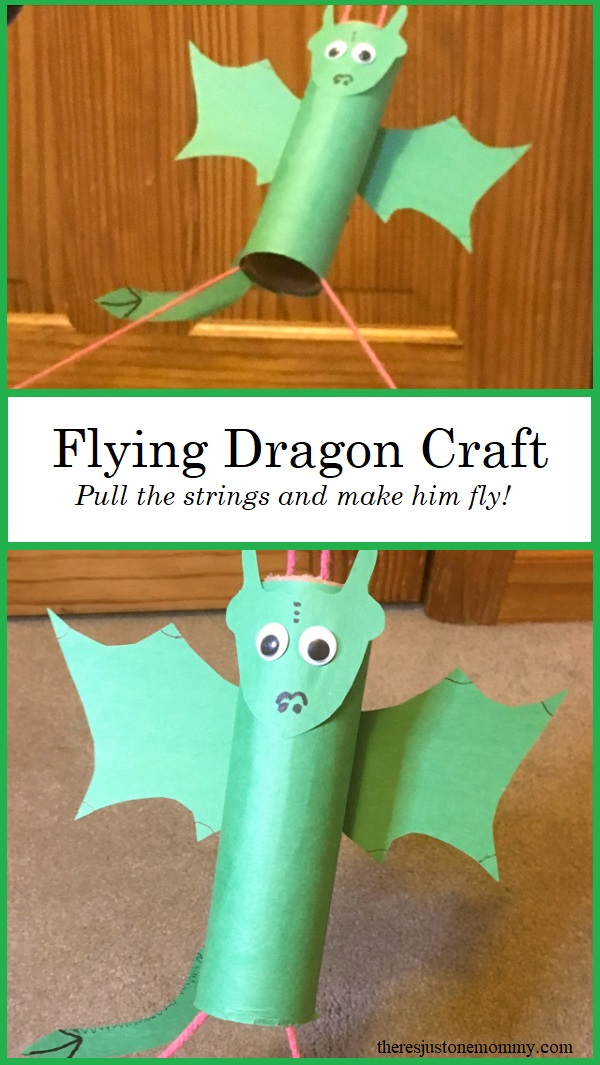 flying dragon craft -- make a flying toy with this STEM activity for kids