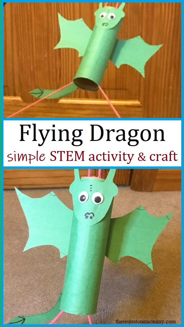 dragon craft for kids that really flies