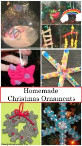 simple homemade Christmas ornaments kids can make