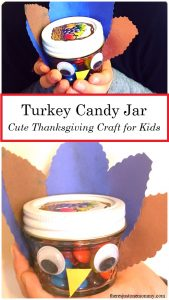 Kids Turkey Candy Jar Craft