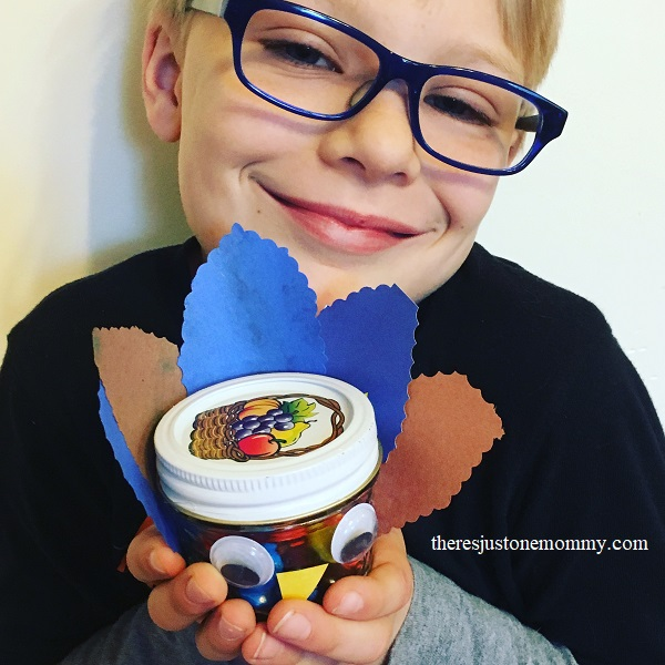 candy jar turkey craft
