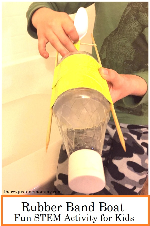 DIY rubber band boat