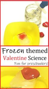 fun Frozen themed science for preschoolers