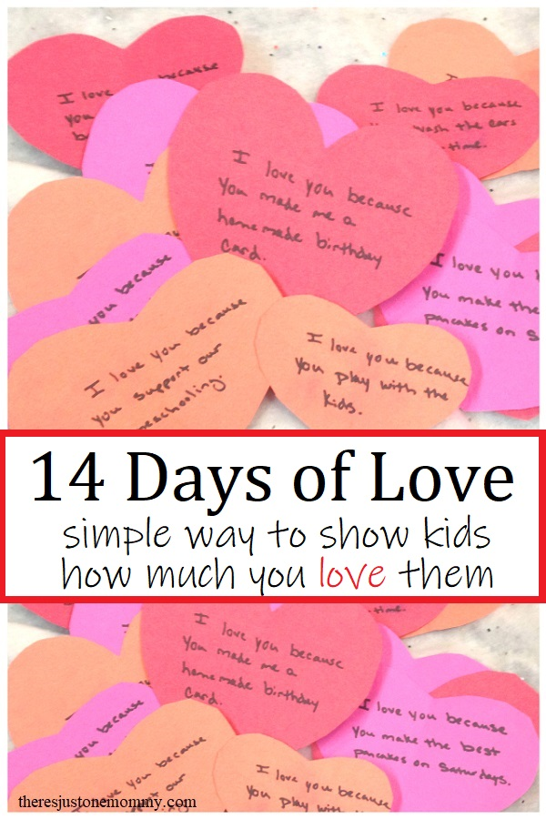 paper heart Valentines love notes for kids