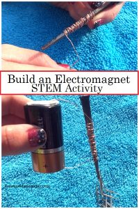 STEM challenge for kids: make an electromagnet