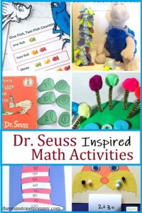 math activities inspired by Dr Seuss books