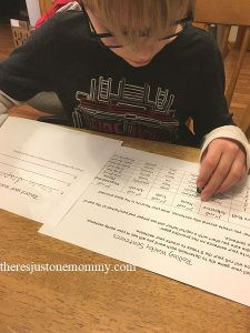 activity to teach kids to write sentences