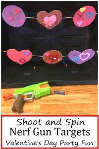 DIY Nerf gun target Valentine's Day activity