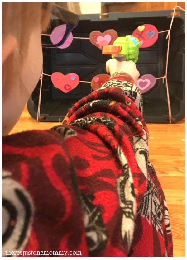 Valentine's Day activity with Nerf guns