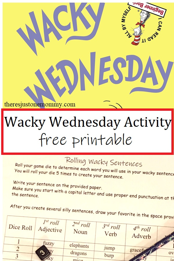 Wacky Wednesday activity for kids