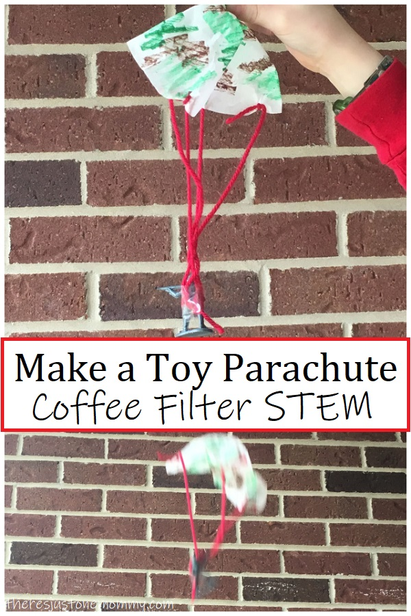 how to make a coffee filter parachute