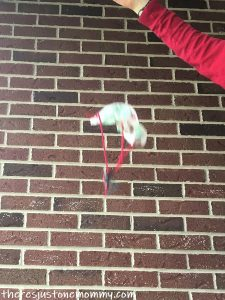 DIY mini toy parachute
