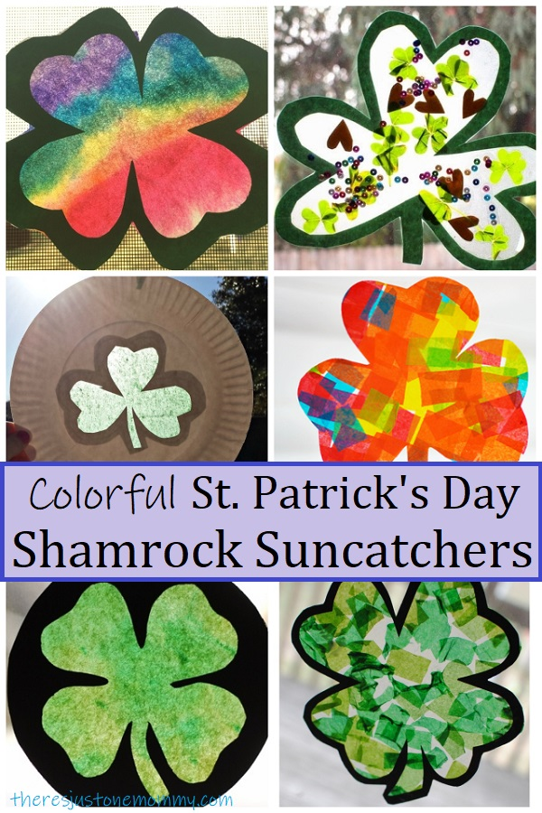 shamrock suncatchers for St. Patrick's Day