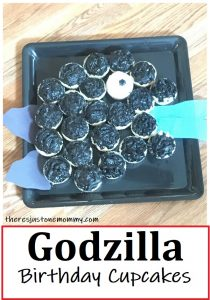 how to make a Godzilla birthday cake
