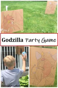 kids Godzilla birthday party game