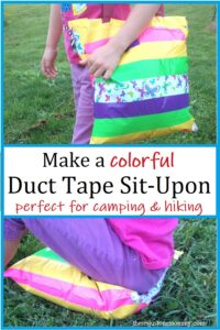 how to make a sit upon with duct tape